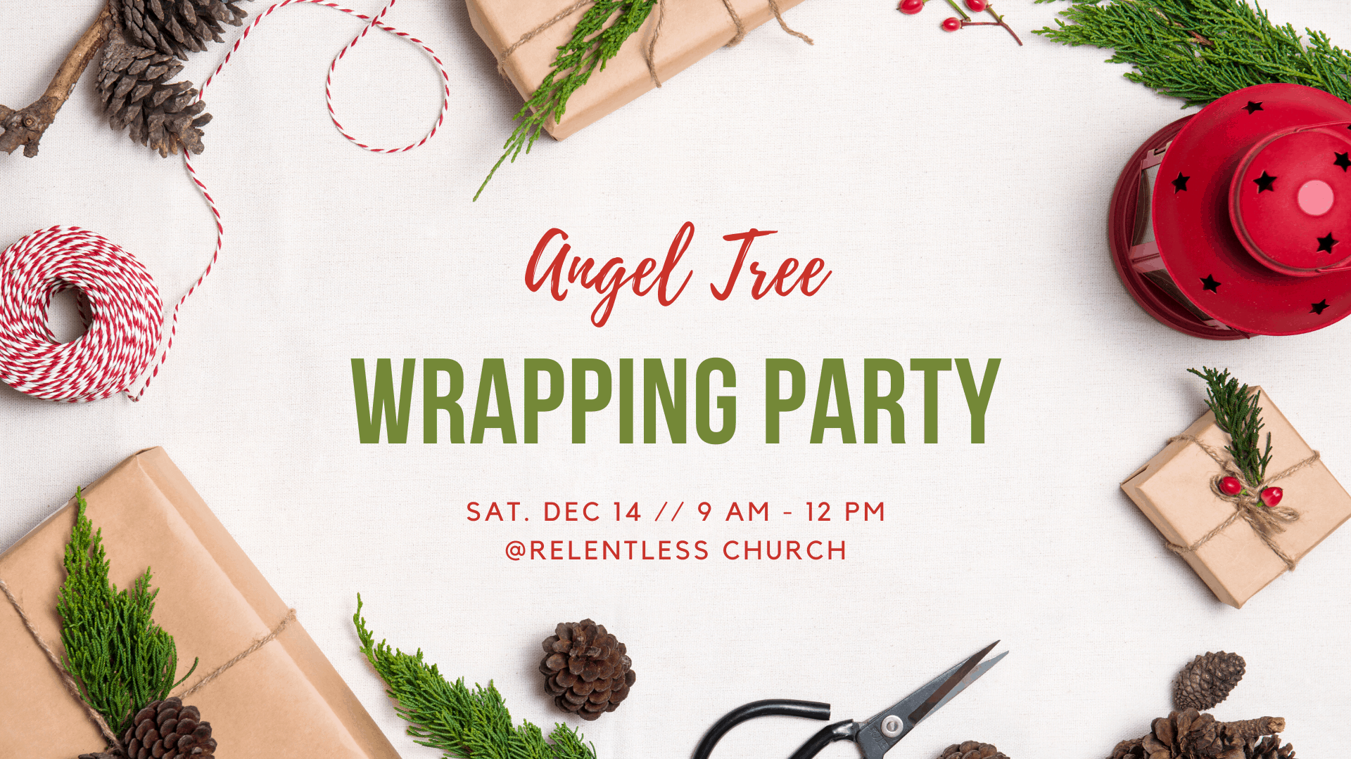 Angel Tree Wrapping Party